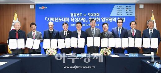 경북도・9개 지역대학, '지역선도대학 육성사업' 협약 체결