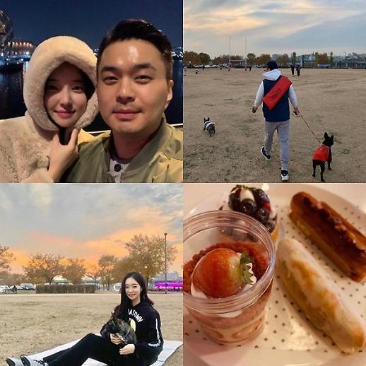 김유지♥정준, 반려견과 산책부터 밤 데이트까지 일상 눈길