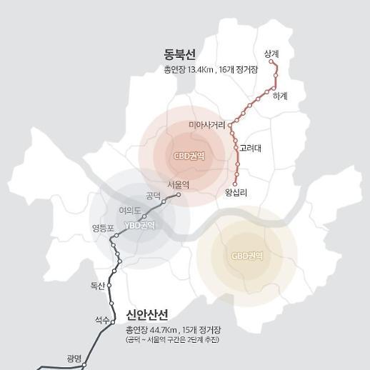 서울 신안산선∙동북선 인근 부동산 들썩