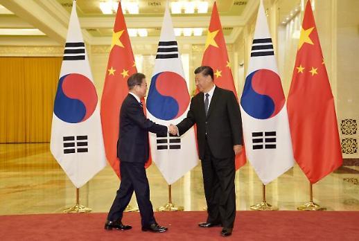 [한중일 정상회의] 文대통령, 시진핑에 中 역할론 주문…한·중 해빙모드