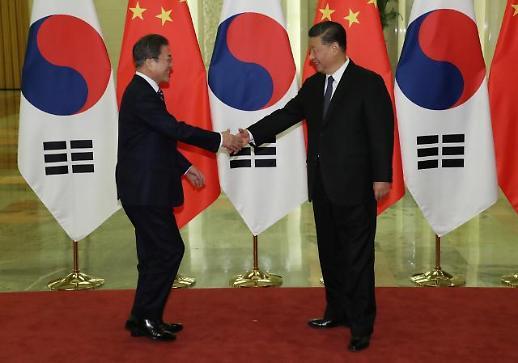 원론적 사드 논의에 그친 文대통령·시진핑…한한령 직접적 언급도 無