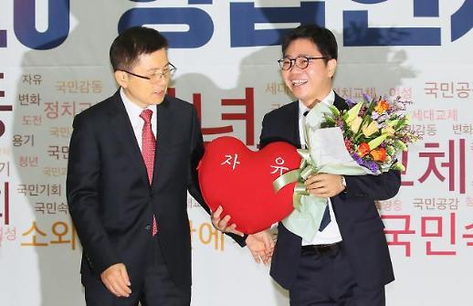 [포토] 한국당 영입인사 탈북 인권운동가 지성호