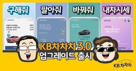 KB캐피탈, 중고차 거래 플랫폼 KB차차차' 3.0 버전 오픈