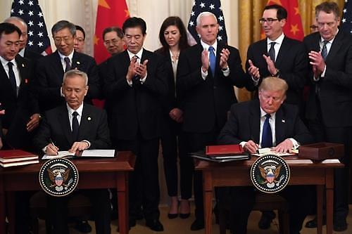 中언론, 미·중 1단계 무역합의 서명 높이 평가 순조로운 출발