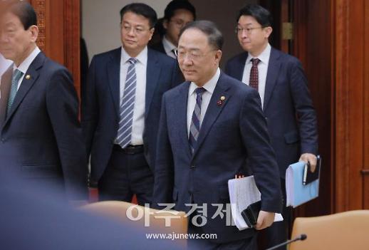 [포토] 홍남기, 우한 폐렴 대응에 208억 예산 집행