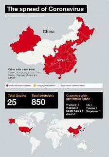 Trung Quốc: 132 người tử vong…Thế giới: 6000 người nhiễm bệnh