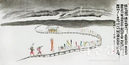김길두 작가, 인사아트센터서 사경으로 피어낸 꽃 서예전