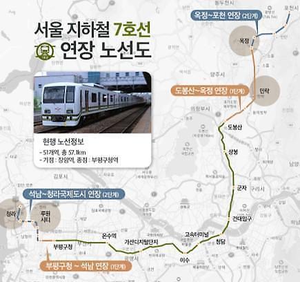 지하철7호선 연장에 불붙는 집값…경기 양주·의정부, 인천 부평 들썩