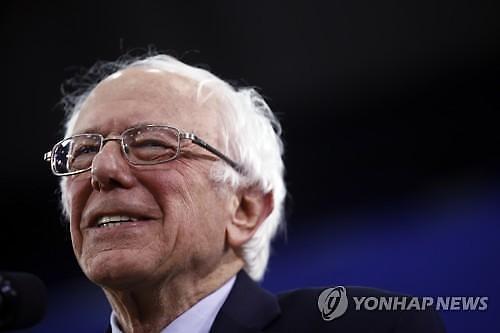 샌더스, 美민주당 경쟁후보 두 자릿수 리드...바이든↓·블룸버그↑