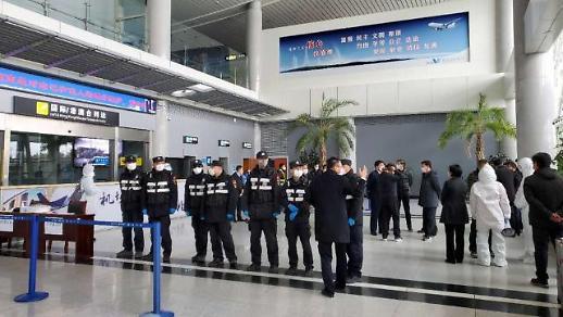 [포토] 한국인 격리하는 중국 웨이하이 공안들