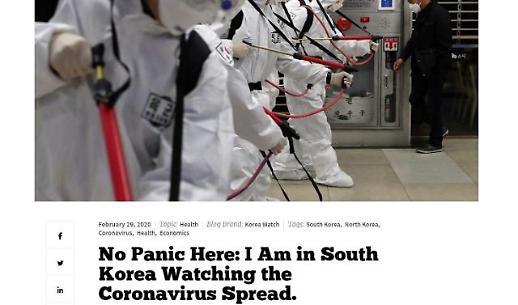 [코로나19] 켈리 교수 한국은 침착히 대응…정부 대응시스템 훌륭