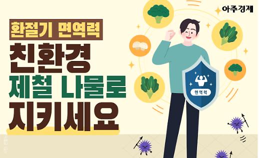 [카드뉴스] 환절기 면역력, 친환경 제철 나물로 지키세요