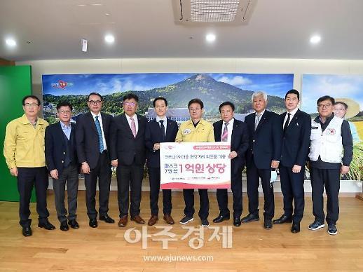 세계한인무역협회 중국지회, 코로나19 극복 구호품 전달