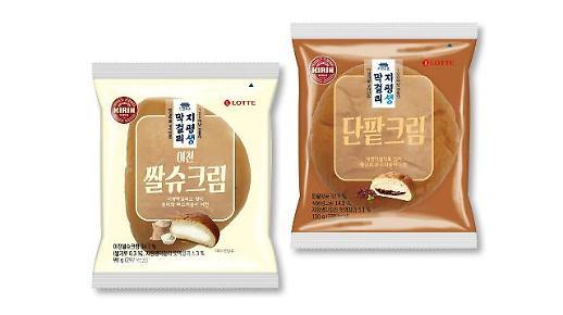 롯데제과, '지평 생막걸리 빵' 2탄 이천쌀슈크림 출시