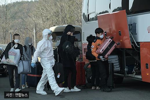 [코로나19 PIC] 진단 검사 마친 유럽발 입국자들