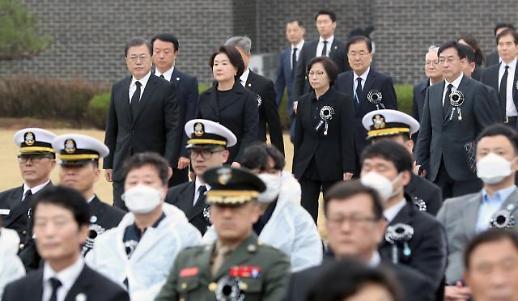 [포토] 문재인 대통령, 취임 후 첫 서해수호의 날 기념식 참석