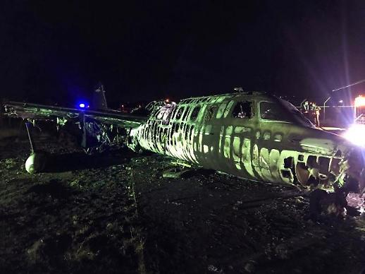 [슬라이드 화보] 참혹한 비행기 폭발현장