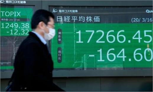 [아시아증시 마감] 닛케이 사흘째 폭락…장중 1만8000선 붕괴