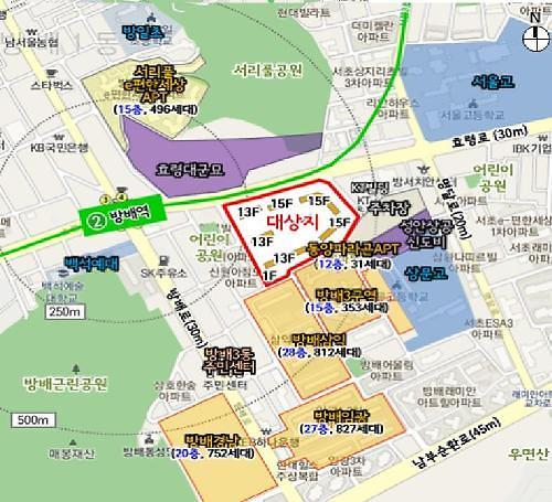 방배신동아, 기존 도로폭 축소…서울시 도시계획위 원안가결