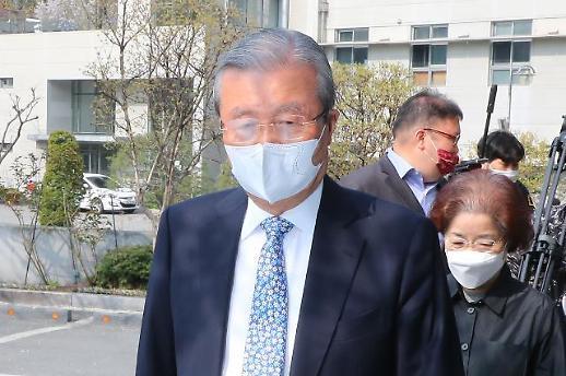 [포토] 색깔로 미래통합당에 작별 전한 김종인