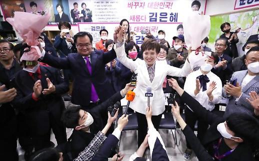 [포토] 환호하는 김은혜