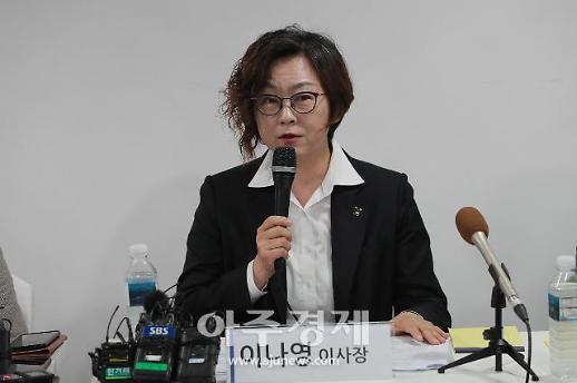 [포토] 발언하는 이나영 이사장