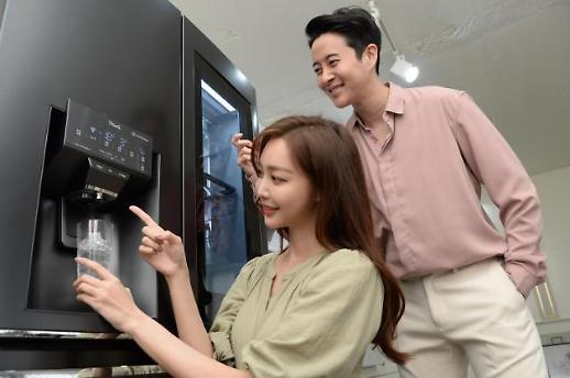 문 열어줘 냉수 설정해줘…LG전자, 음성 제어 디오스 얼음정수기냉장고 출시