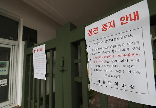[포토] 접견 중지 안내문 붙은 서울구치소