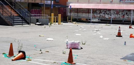 """[미국 폭동 현장]""""숨쉴 수가 없어! 분노폭발, LA도 약탈 도시로"""