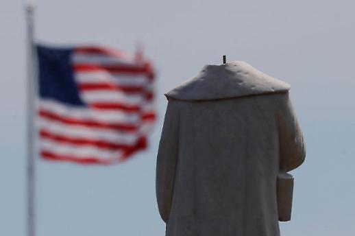 [포토] 목이 달아난 미국의 영웅