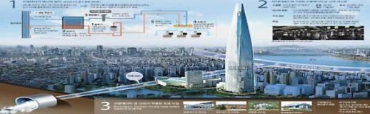 연 7억원 절감하는 롯데월드타워 수열에너지, 그린뉴딜 대표 사업 된다