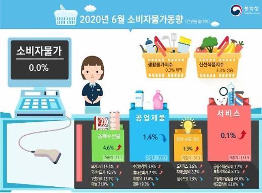 [상보] 6월 소비자물가 상승률 0%… 마이너스 물가 멈췄다