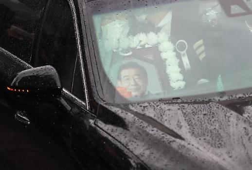 [포토] 故 박원순, 서울시청 마지막 출근