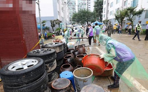 [포토] 대전 역대급 물폭탄… 한숨만 나오는 피해자들