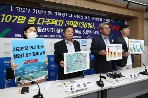 정책 수립 고위공직자, 1인당 부동산 재산 12억…국민 평균 4배