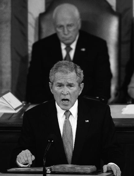 布什发表最后一次国情咨文力促韩美FTA并加强韩美同盟