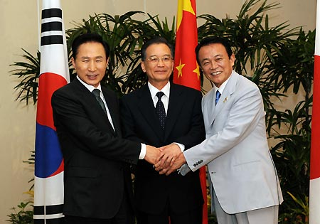 .China, Japan, S Korea Agree to Push Forward Six-Party Talks.