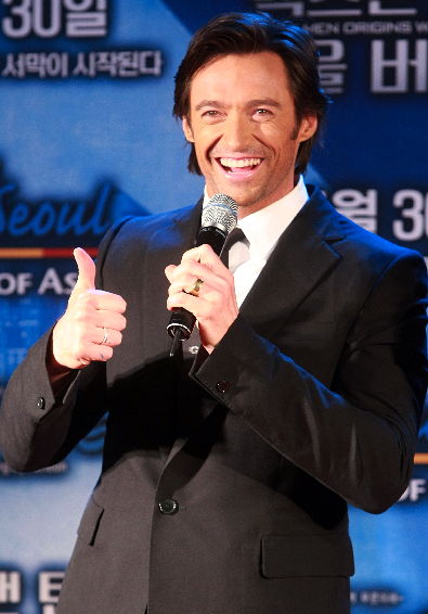 .杰克曼来韩宣传新片《金刚狼》.