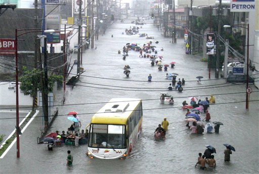 .40 Dead after Flooding in Northern Philippines.
