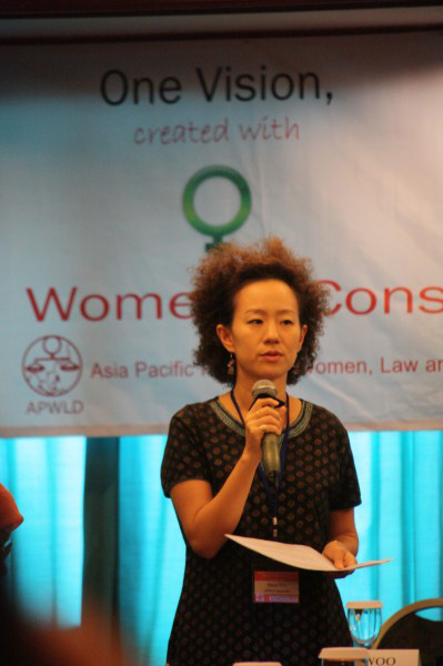 .Woo Wants to Improve on Human Rights for the Asian Women.