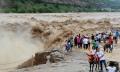 .黄河壶口瀑布迎来洪峰 气势壮观.