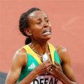 <伦敦奥运>埃塞俄比亚选手德法尔夺得田径女子5000米冠军