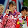 <伦敦奥运>中国选手切阳什姐获得女子20公里竞走铜牌