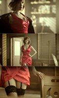 .K-pop alert: girl band SECRET; member Hyosung rocked sexy red dress & garter belt on the music video.