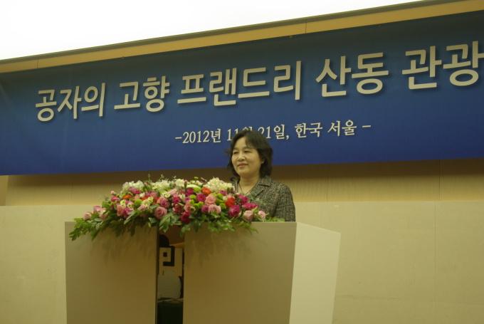 山东旅游局国际市场开发处,韩国旅游业协会,中韩两国旅行社及媒体代表