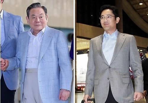 李健熙/李健熙(左)与李在镕