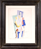 .An American man wins a Picasso painting through online charity raffle .