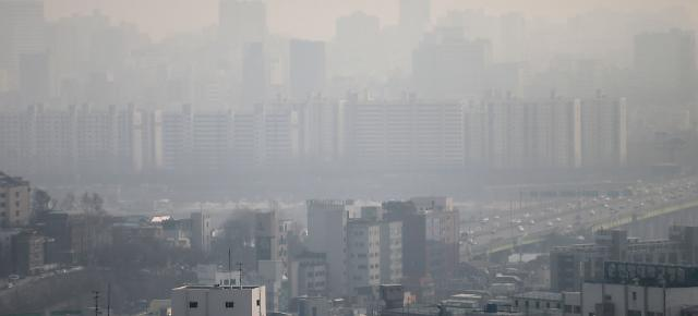 首尔再遭雾霾袭击 可吸入颗粒物超标
