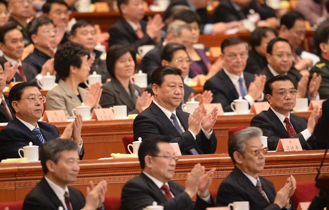 2014中国两会 中国党和国家领导人出席政协开幕会图片