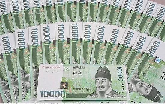130万韩元_韩元涨幅逾3% 居全球主要40国首位